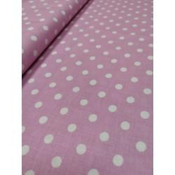 Bavlna ružová/bodka