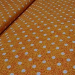 Bavlna oranž/bodka