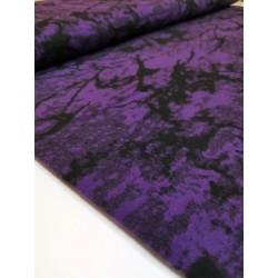 Flauš fialový vzor